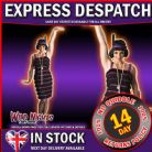 FANCY DRESS COSTUME ~ LADIES 1920's PURPLE & BLACK FLAPPER DRESS SM 8-10